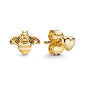 🔥Pandora🔥 Bee & Heart Stud Earrings